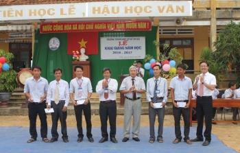 Đảng bộ Tổng công ty thực hiện hoạt động an sinh xã hội tại Trường THCS An Hải - Lý Sơn - Quảng Ngãi