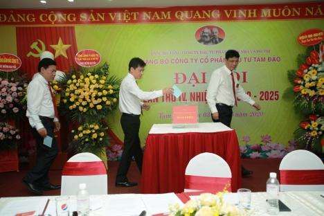Đại hội Đảng bộ Công ty cổ phần đầu tư Tam Đảo tổ chức bầu trực tiếp Bí thư tại Đại hội