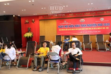 Ngày hội hiến máu tình nguyện HUD năm 2020