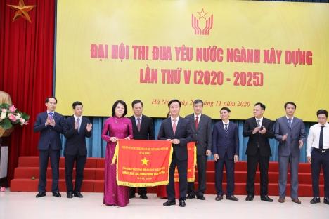 Các tập thể và cá nhân của HUD được tặng Cờ thi đua và Huân chương lao động tại Đại hội Thi đua yêu nước ngành Xây dựng lần thứ V, giai đoạn 2020-2025