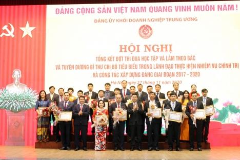 Các tập thể và cá nhân HUD được Đảng ủy Khối Doanh nghiệp Trung ương tặng bằng khen trong đợt thi đua học tập và làm theo Bác và tuyên dương bí thư chi bộ tiêu biểu