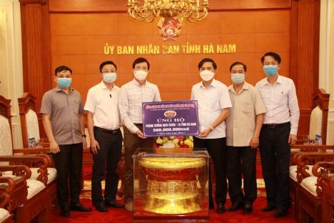 Tổng công ty HUD ủng hộ tỉnh Hà Nam 500 triệu đồng để phòng chống đại dịch Covid-19